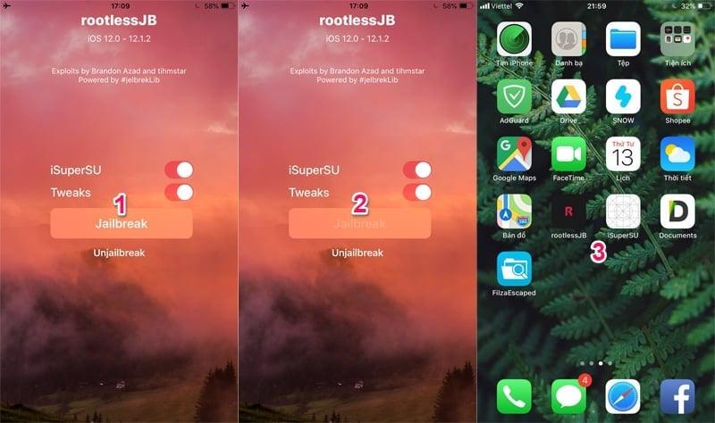 Đã có jailbreak iOS 12, hướng dẫn jailbreak ios 12.0.-12.1.2 bằng rootlessJB