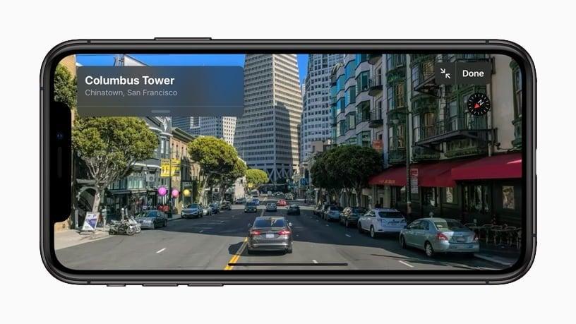 Apple Ios 13 Look Around Screen Iphone Xs