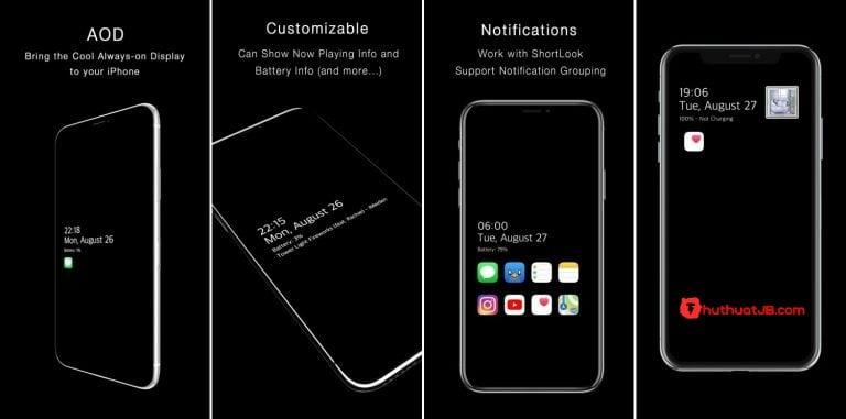 AOD – Mang tính năng luôn hiển thị (Always On Display) cho iPhone của bạn
